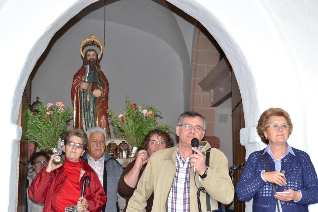 Procesión en la Ermita del Santo